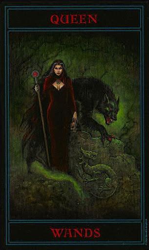 Lá Queen of Wands – Gothic Tarot