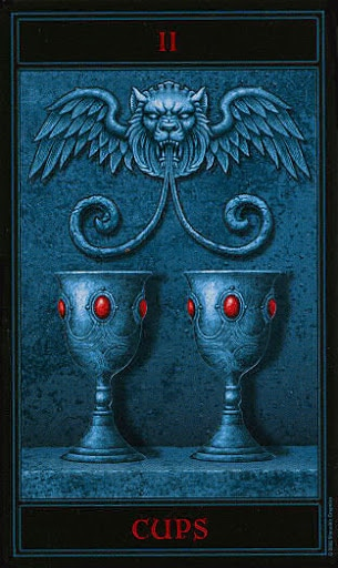 Lá Two of Cups – Gothic Tarot