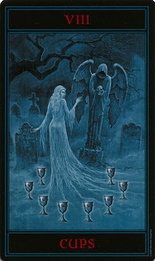 Lá Eight of Cups – Gothic Tarot
