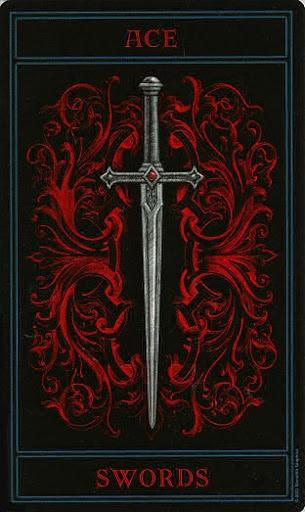 Lá Ace of Swords – Gothic Tarot