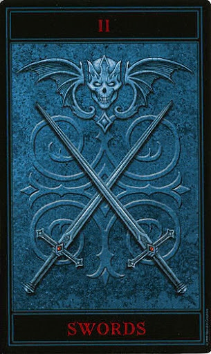 Lá Two of Swords – Gothic Tarot