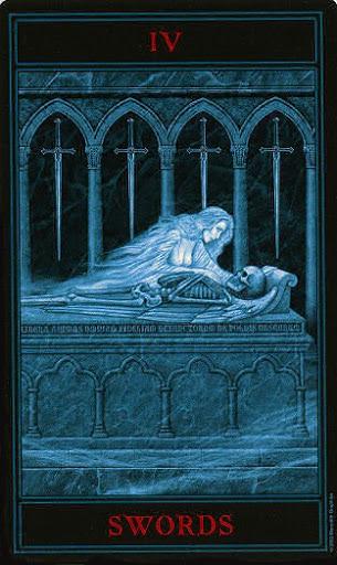 Lá Four of Swords – Gothic Tarot