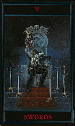 Lá Five of Swords – Gothic Tarot