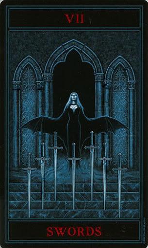 Lá Seven of Swords – Gothic Tarot