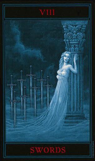 Lá Eight of Swords – Gothic Tarot