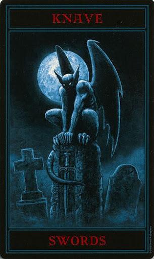 Lá Knave of Swords – Gothic Tarot