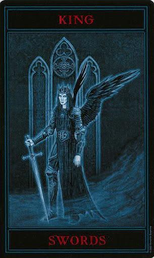Lá King of Swords – Gothic Tarot