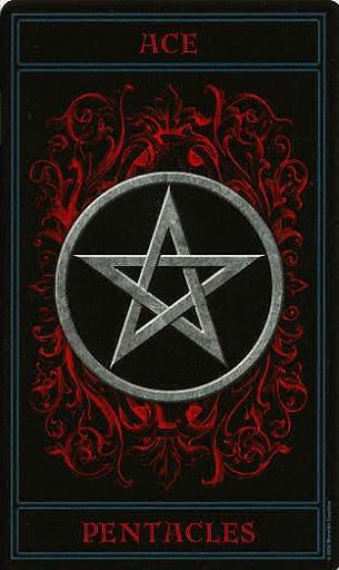 Lá Ace of Pentacles – Gothic Tarot