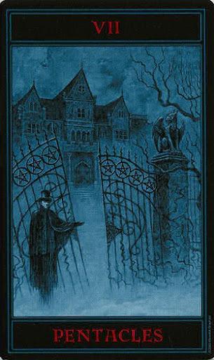 Lá Seven of Pentacles – Gothic Tarot