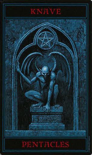 Lá Knave of Pentacles – Gothic Tarot