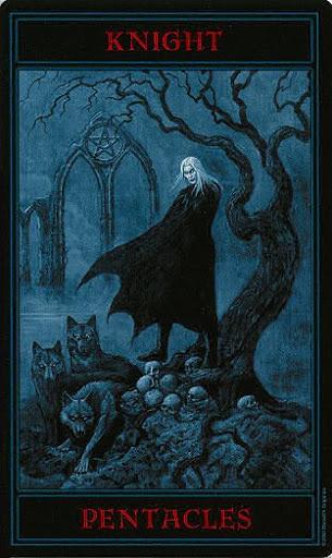 Lá Knight of Pentacles – Gothic Tarot