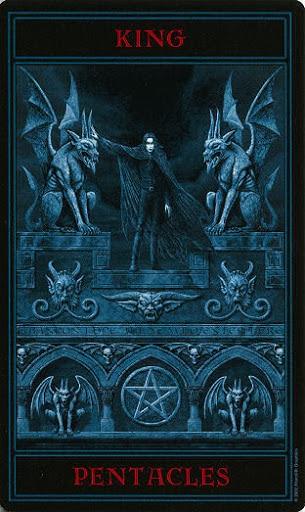 Lá King of Pentacles – Gothic Tarot