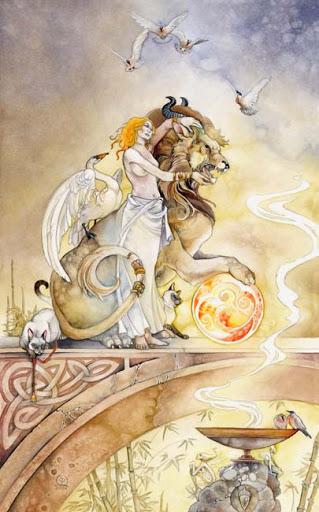 Lá VIII. Strength – Shadowscapes Tarot
