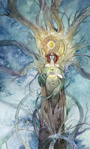 Lá Queen of Pentacles – Shadowscapes Tarot