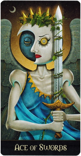 Lá Ace of Swords – Deviant Moon Tarot