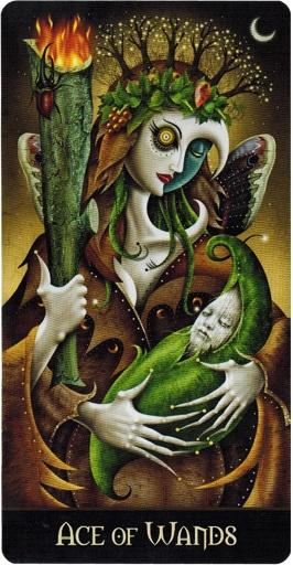 Lá Ace of Wands – Deviant Moon Tarot