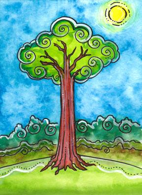 Lá Ace of Wands – Tarot of Trees