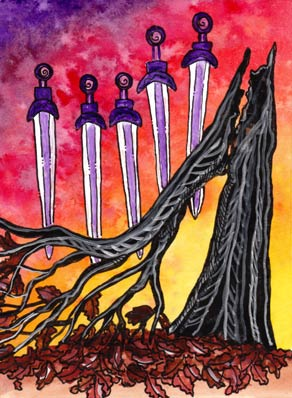 Lá Five of Swords – Tarot of Trees