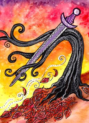 Lá Knight of Swords – Tarot of Trees