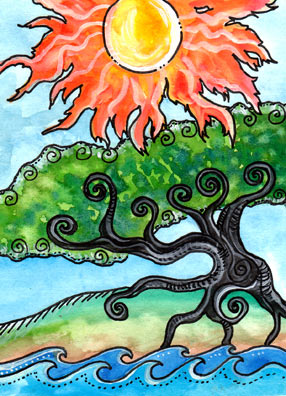 Lá XIV. Temperance – Tarot of Trees