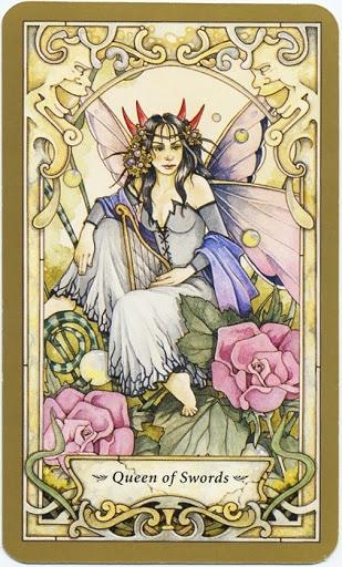 Hình Ảnh Lá Queen of Swords - Mystic Faerie Tarot Kênh Kiến Thức Và Tri Thức
