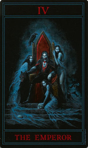 Lá IV. The Emperor – Gothic Tarot