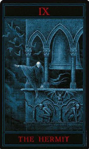 Lá IX. The Hermit – Gothic Tarot