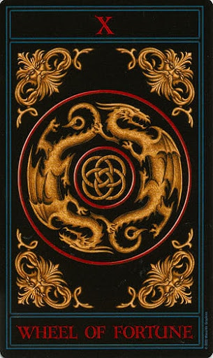 Lá X. The Wheel of Fortune – Gothic Tarot