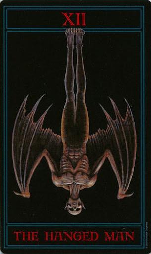 Lá XII. The Hanged Man – Gothic Tarot