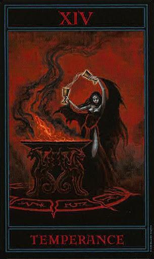 Lá XIV. Temperance – Gothic Tarot