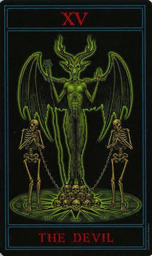 Lá XV. The Devil – Gothic Tarot