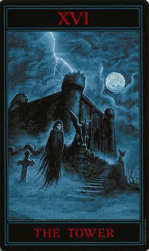 Lá XVI. The Tower – Gothic Tarot