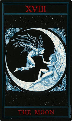 Lá XVIII. The Moon – Gothic Tarot