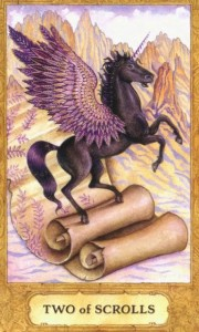 Lá Two of Swords - Chrysalis Tarot