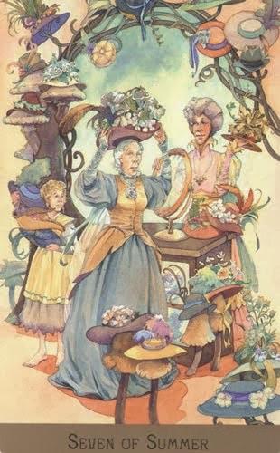 Lá Seven of Summer – Victorian Fairy Tarot
