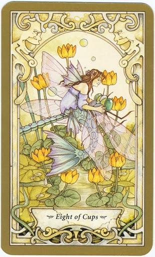 Hình Ảnh Lá 8 of Cups - Mystic Faerie Tarot Kênh Kiến Thức Và Tri Thức