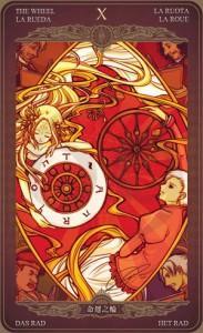 Ý nghĩa lá bài The Wheel of Fortune trong bộ Oze69 Watchers Tarot