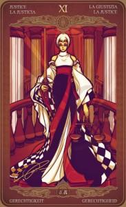 Ý nghĩa lá bài Justice trong bộ Oze69 Watchers Tarot