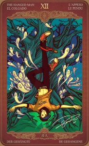 Ý nghĩa lá bài The Hanged Man trong bộ Oze69 Watchers Tarot