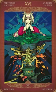 Ý nghĩa lá bài The Tower trong bộ Oze69 Watchers Tarot