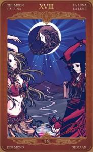 Ý nghĩa lá bài The Moon trong bộ Oze69 Watchers Tarot