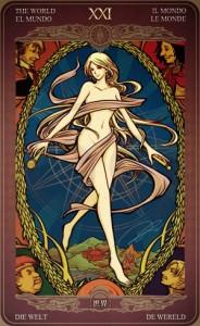 Ý nghĩa lá bài The World trong bộ Oze69 Watchers Tarot