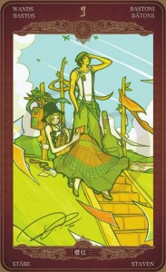 Ý nghĩa lá bài 3 of Wands trong bộ Oze69 Watchers Tarot