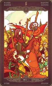 Ý nghĩa lá bài 6 of Wands trong bộ Oze69 Watchers Tarot