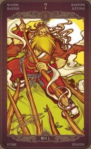 Ý nghĩa lá bài 7 of Wands trong bộ Oze69 Watchers Tarot