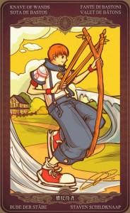 Ý nghĩa lá bài Page of Wands trong bộ Oze69 Watchers Tarot