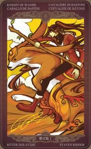 Ý nghĩa lá bài Knight of Wands trong bộ Oze69 Watchers Tarot