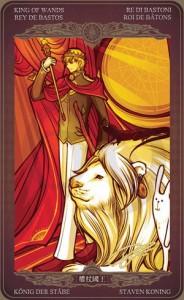 Ý nghĩa lá bài King of Wands trong bộ Oze69 Watchers Tarot