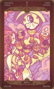 Ý nghĩa lá bài 7 of Cups trong bộ Oze69 Watchers Tarot