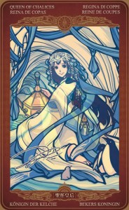 Ý nghĩa lá bài Queen of Cups trong bộ Oze69 Watchers Tarot